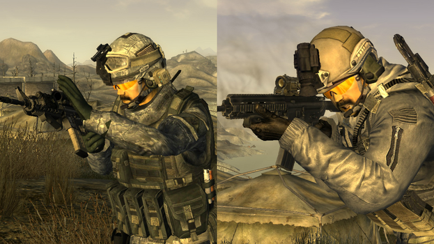 Fallout New Vegas: ACH and Ops-Core Helmets by Killertyphoon101