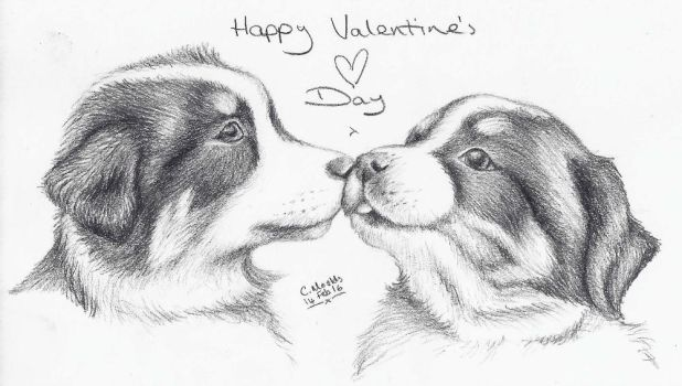 Valentine's Day Puppies by icepaw99