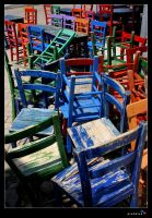 chairs by pinkblue