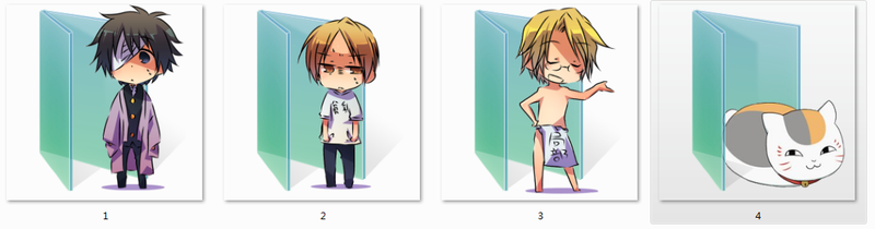 Natsume's Book of Friends Folder Icons by Ginokami6