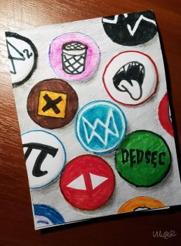 Watch_Dogs Badges by ukardesu