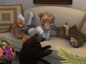 Lions and Tiger and Bears by Minerva2001