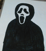 Ghostface Drawing by TwistedDarkJustin
