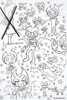 Bendy doodles (Sketches) by HirobArt