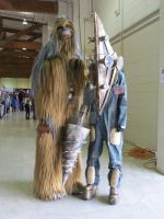 Silent Shock meets Chewbacca by ZombieGrimm