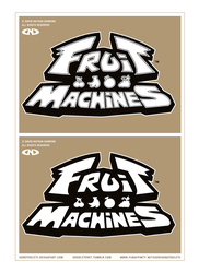 FRUIT MACHINES - Logo - Black and White - WIP by DoNotDelete