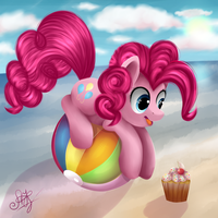 Pinkie Pie: on the ball. by Ogniva
