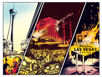 ZOMBIES BRING DOWN LAS VEGAS by sayunclecomics