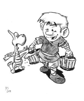 Weekly Sketches: Lenny + The Kid by Kmadden2004