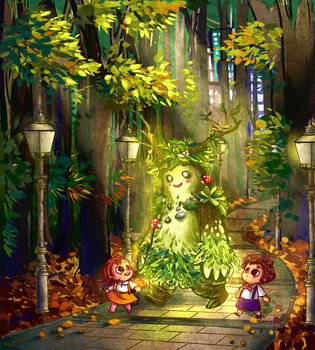Genny and Urby meets the Guardian of Nature by nasume