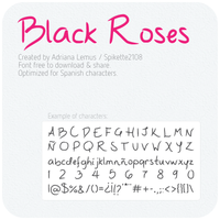 Black Roses - Font by vicexversa