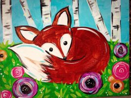 Children's Painting- Spring Fox by Salix-Tree