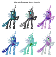 FiM Skins: Queen Chrysalis by Pika-Robo