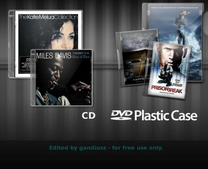 CD DVD Case psd xcf SOURCE by gandiusz