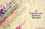 12 Strings And Bubbles Brushes by psbrushphotoshop