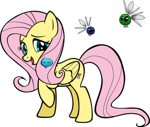 Fluttershy Coloring Page!-Vector by ComicalBrony