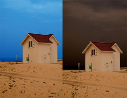 House on the beach1 by sylences