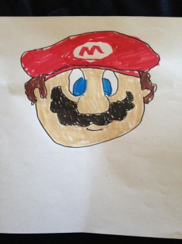 My brother's Mario drawing by Prince5s