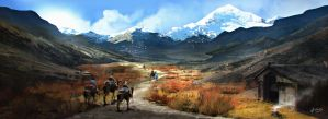 Silk Road Caravan by PencilandStylus