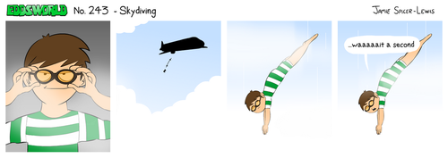 EWCOMIC No. 243 - Skydiving! by eddsworld