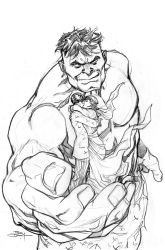 Hulk 80's Variant Cover Pencils by TerryDodson