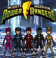 The Power Rangers (MMPR) by KingCozy7