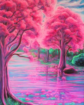 Pink Trees by Marybriannemckay