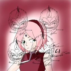 Sakura fan art by carmineink01
