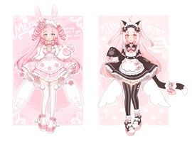 [Closed] Bunny and Kitty maid by Valyriana