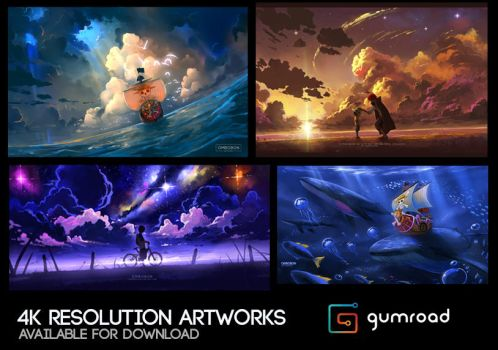 4K Resolution Artworks Package by ombobon