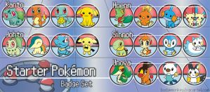 Starter Pokemon Badge Set[s]