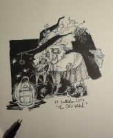 21 The Old Witch Inktober2017 by Popuche