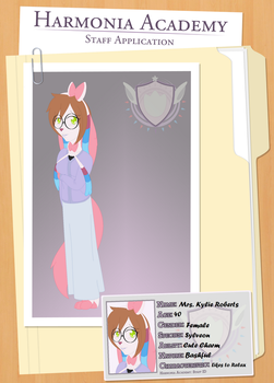 [Harmonia Academy Application] Kylie Roberts by cheshire-cat-tamer