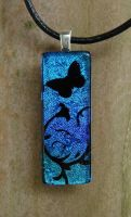 Butterfly Garden Fused Glass by FusedElegance