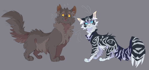 Graystripe and Silverstream by WeHaveCandy
