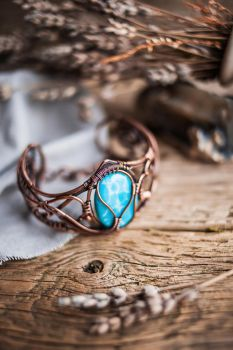 Copper bracelet for women by UrsulaJewelry