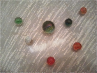 Fake Painting - Glass Marbles 2 by RavenPencil