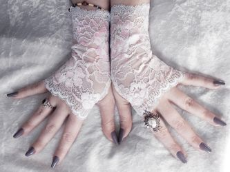 Anemonella Lace Fingerless Gloves by ZenAndCoffee