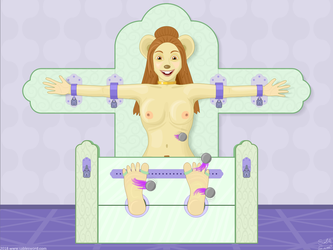 Jittina in the Stocks - nude by Lurker60031