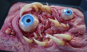 Tooth eye polymer clay sculpture by dogzillalives