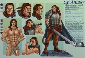 commission 29- Sigfrud- character sheet by LadyDeddelit
