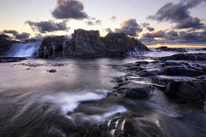 Cascading Waves on Lake Superior by tfavretto