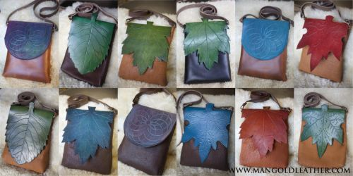 Bison Leather Leaf-Bag Series by liontroll