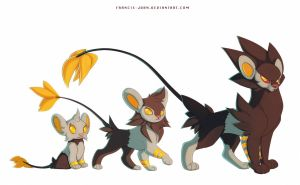 Shinx Luxio and Luxray
