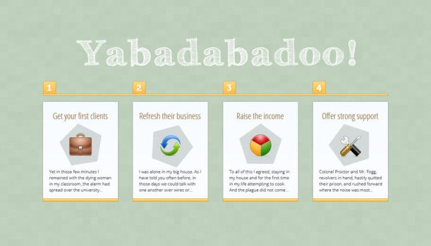 Simple Business Steps Free PSD by victorsosea