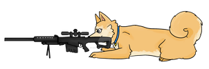 Sniper Doge by ohfawn