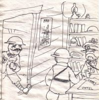 Inside the dugout by DoodleWarfare
