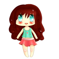 Chibi girl with red hair by TaitRochelle