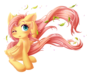 Fluttershy's Windy Day by Mo-Chi2