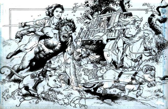 Fables inked commission by thepunisherone